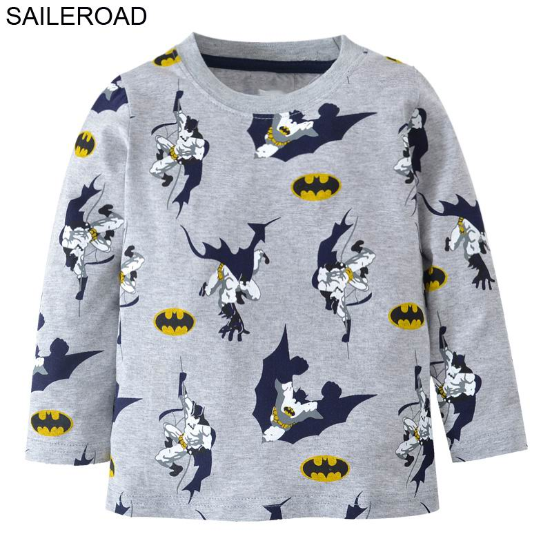 SAILEROAD Cartoon 2-7Y Baby Boys Long Sleeve Shirts For Spring Autumn Children Kids Girls Tops Tees T Shirt Cotton Boys Clothes 2017 spring autumn 1 6t kids cotton long sleeve t shirt baby boys girls age number blouse tops children pullovers tee camiseta