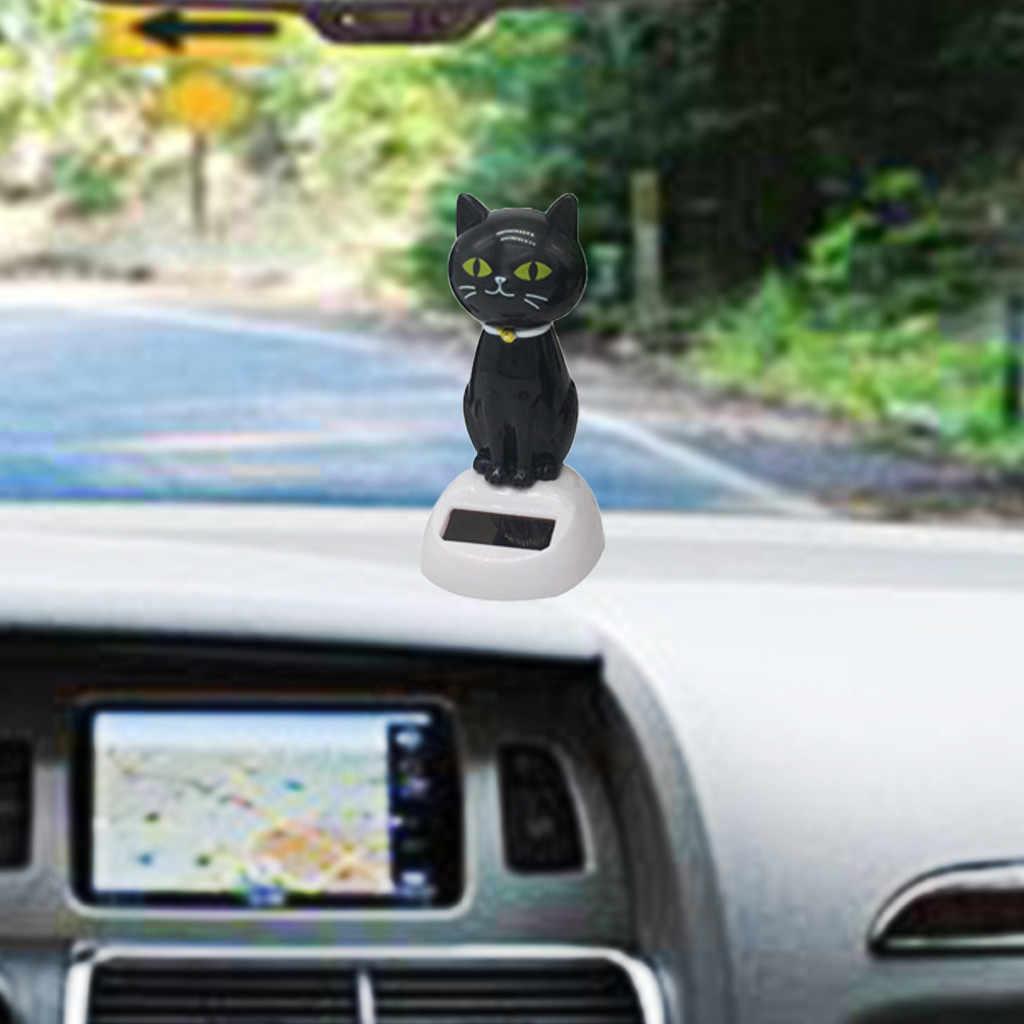 Di modo Solare Scuotendo Auto Decorazione Carino Gattino Nero di Stile Decorazione Auto Auto Ecologico Decorazione Car Styling