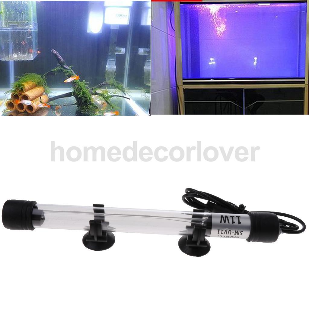 UK Plug Aquarium Underwater UV Sterilizer Light Submersible Water Clarifier Lamp