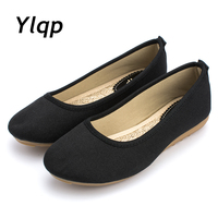 Beautiful Summer New Old Beijing Shoes Flat Black And White Shoes Size Mother Nurses Shoes Female