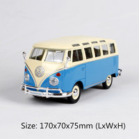 1/24 Volkswagen Bus Samba Simulation Alloy Car Model Retro Bus