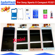 for Sony Xperia X Compact F5321 touch screen 4.6 inch Digitizer Sensor Panel Assembly for SONY X MINI frame X MINI frame 4 6 white or black for sony xperia z3 mini compact d5803 d5833 lcd display touch digitizer screen assembly sticker