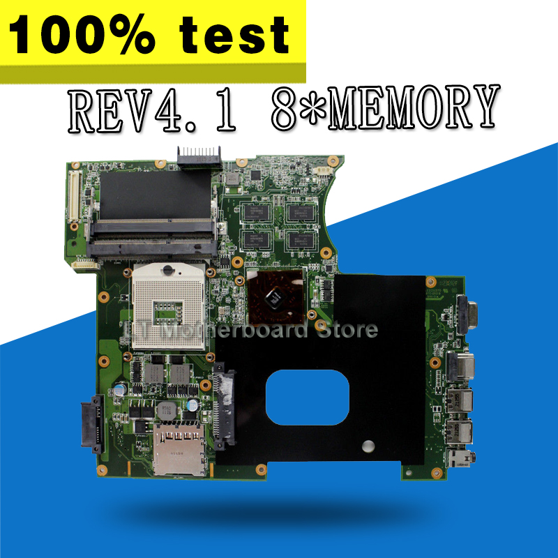 цена K42JR Motherboard REV4.1 8*memory For ASUS K42 X42J K42J K42JR Laptop motherboard K42JR Mainboard K42JR Motherboard test 100% OK