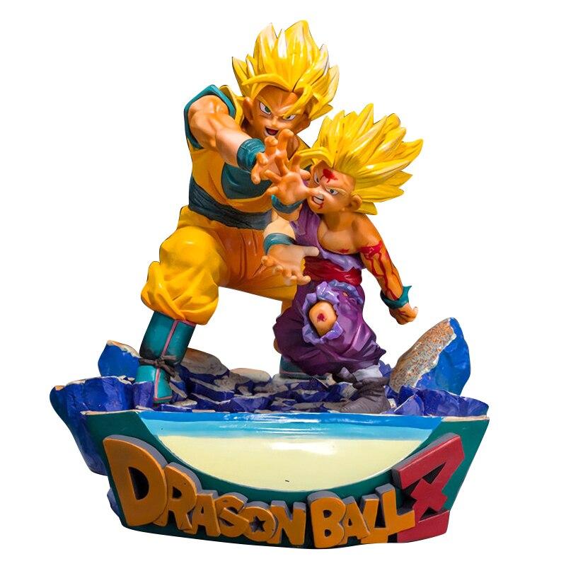 Dragon Ball Z Super Goku Gohan père et fils ka me ha me ha ha boîte PVC figurine modèle Collection jouet cadeau
