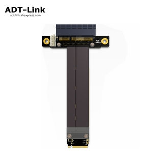 Image 1 - Riser PCIe x4 3.0 PCI E 4x ถึง M.2 NGFF NVMe M 2280 Riser Card Gen3.0 สาย M2 Key   M PCI   Express สายต่อ 32 กรัม/bps