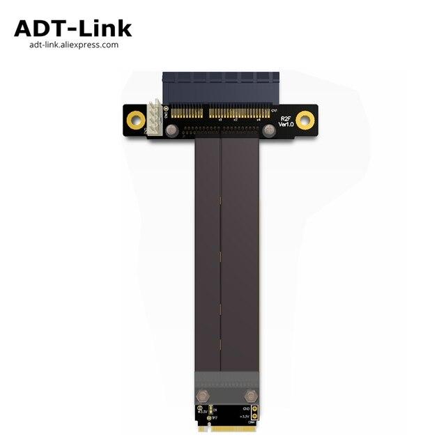 Riser PCIe x4 3.0 PCI E 4x ถึง M.2 NGFF NVMe M 2280 Riser Card Gen3.0 สาย M2 Key   M PCI   Express สายต่อ 32 กรัม/bps