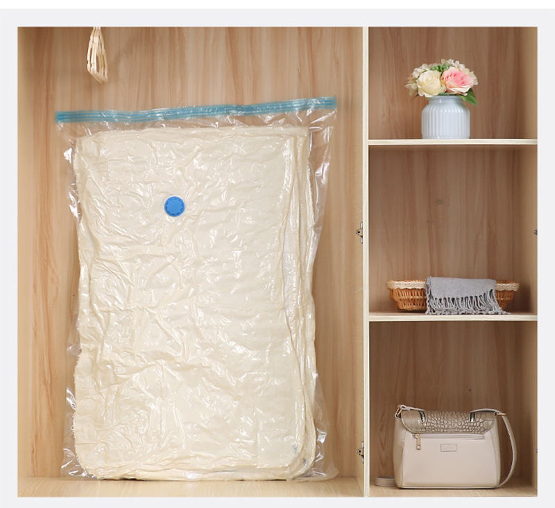 Image 5 - 7pcs/set Vacuum Bag With Hand Pump Storage Home Organizer Transparent Border Clothes Organizer Seal Compressed travel Space SaveStorage Bags   -