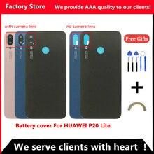 Q& Y QYJOY Задняя крышка батареи для huawei P20 Lite чехол двери для huawei P20 Lite замена корпуса+ задняя камера Стекло Объектив чехол