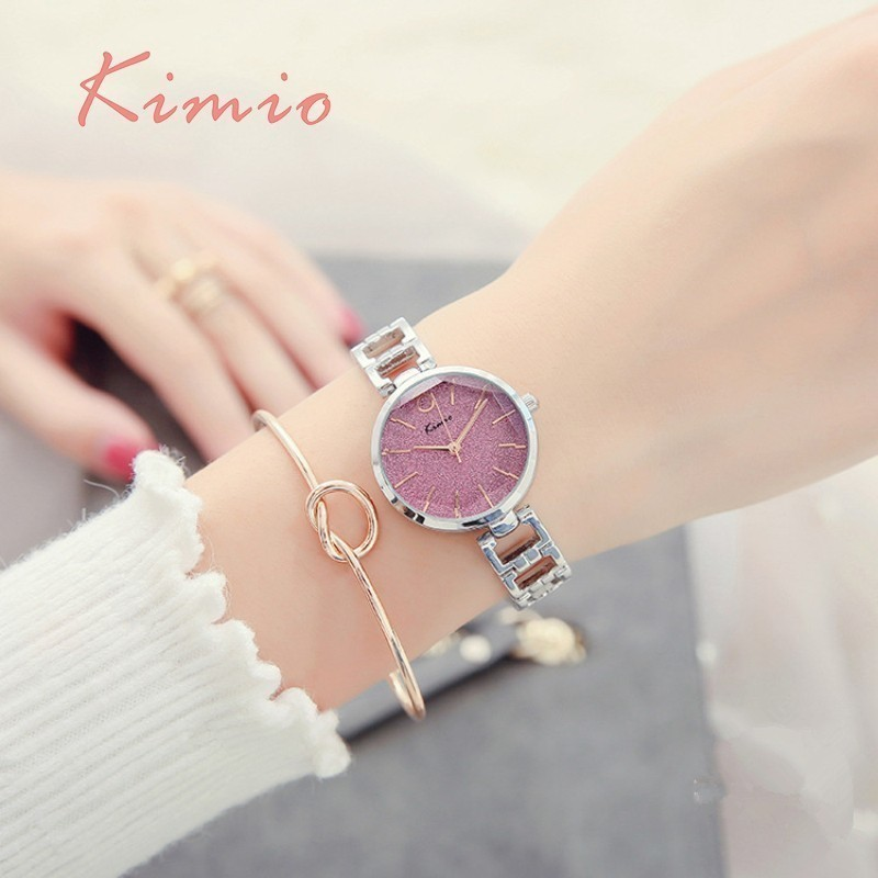 KIMIO Vintage Black Watch Women Fashion Quartz Women Clock Luxury - Zegarki damskie - Zdjęcie 4