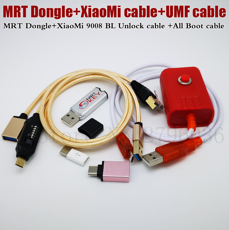 2019 Newest MRT KEY 2 Dongle + For Xiaomi EDL Cable +UMF ALL Boot Cable Set (EASY SWITCHING) & Micro USB To Type-C Adapt