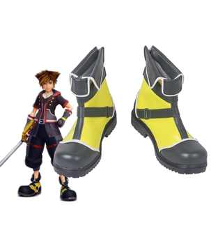 Kingdom Hearts Sora Yellow Cosplay Boots Shoes Custom Made - DISCOUNT ITEM  0% OFF All Category