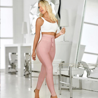 ADYCE 2019 New Summer Pencil Pants Women Sexy Skinny Pants High Waist Nude Belt Trousers Party Bodycon Long Bandage Party Pants
