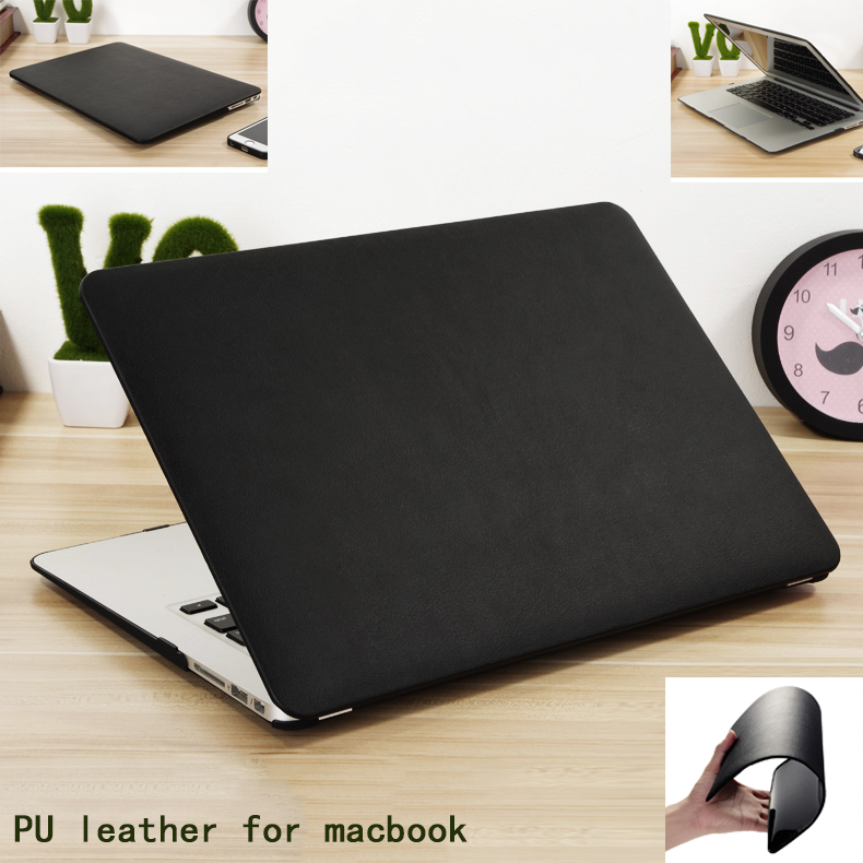 new genuine pu leather cover hard case for apple mac book. Black Bedroom Furniture Sets. Home Design Ideas