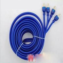 Динамик провод домашний кинотеатр сабвуфер кабель усилителя аудио 5 м синий усилитель сабвуфера подключение