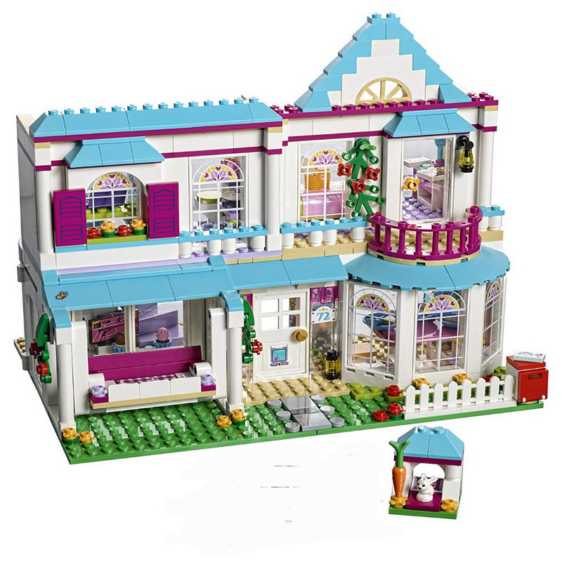 BELA 10612 Friends for girl Stephanie's House Building Blocks Toy Set Compatible LegoINGly 41314 friends house 2016 new bela building blocks toy set princess jasmine s exotic palace 41061 girl lepine bricks toys compatible with friends