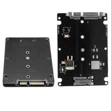 Конвертер адаптер B Ключ разъем 2 M.2 NGFF (SATA) SSD до 2.5 SATA адаптер карт с черный Чехол