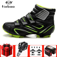 TIEBAO Cycling Shoes Winter SPD pedal set sapatilha ciclismo mtb sneakers Men Cycle Self locking mountain bike Bicycle Boot