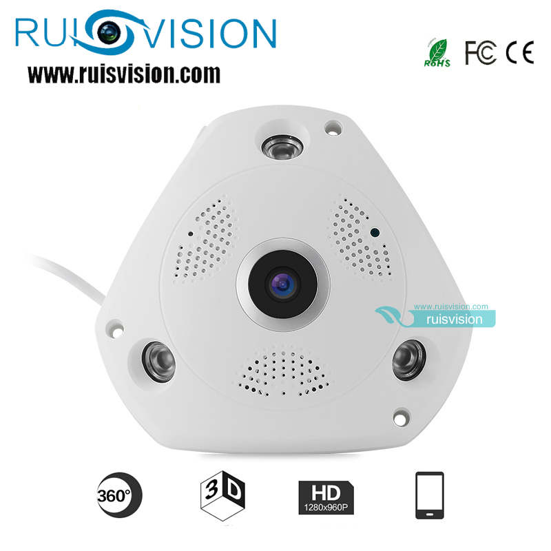NEW HD1.3MP/960P 360Degree Fisheye Panoramic Camera HD Wireless VR Panorama IP camera P2P Indoor Security WiFi Cam free shipping erasmart hd 960p p2p network wireless 360 panoramic fisheye digital zoom camera white