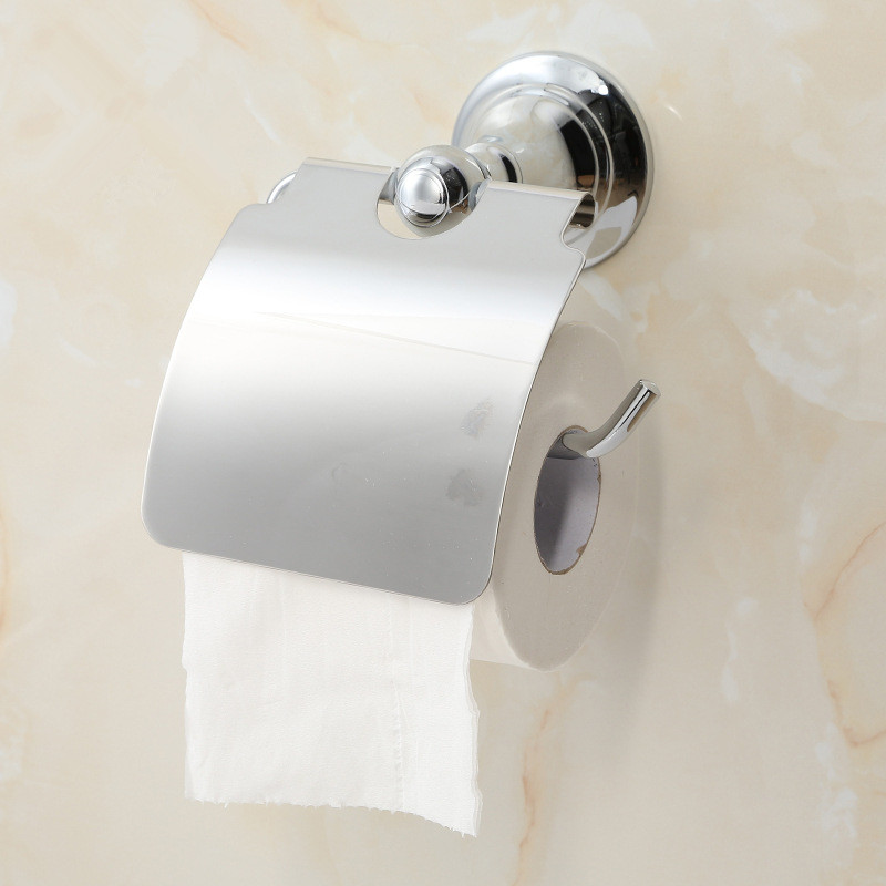 ФОТО Aothpher Durable Silver Copper Chrome Toilet Paper Holder Wall Mount Bathroom Lavatory Rolling Toilet Holder