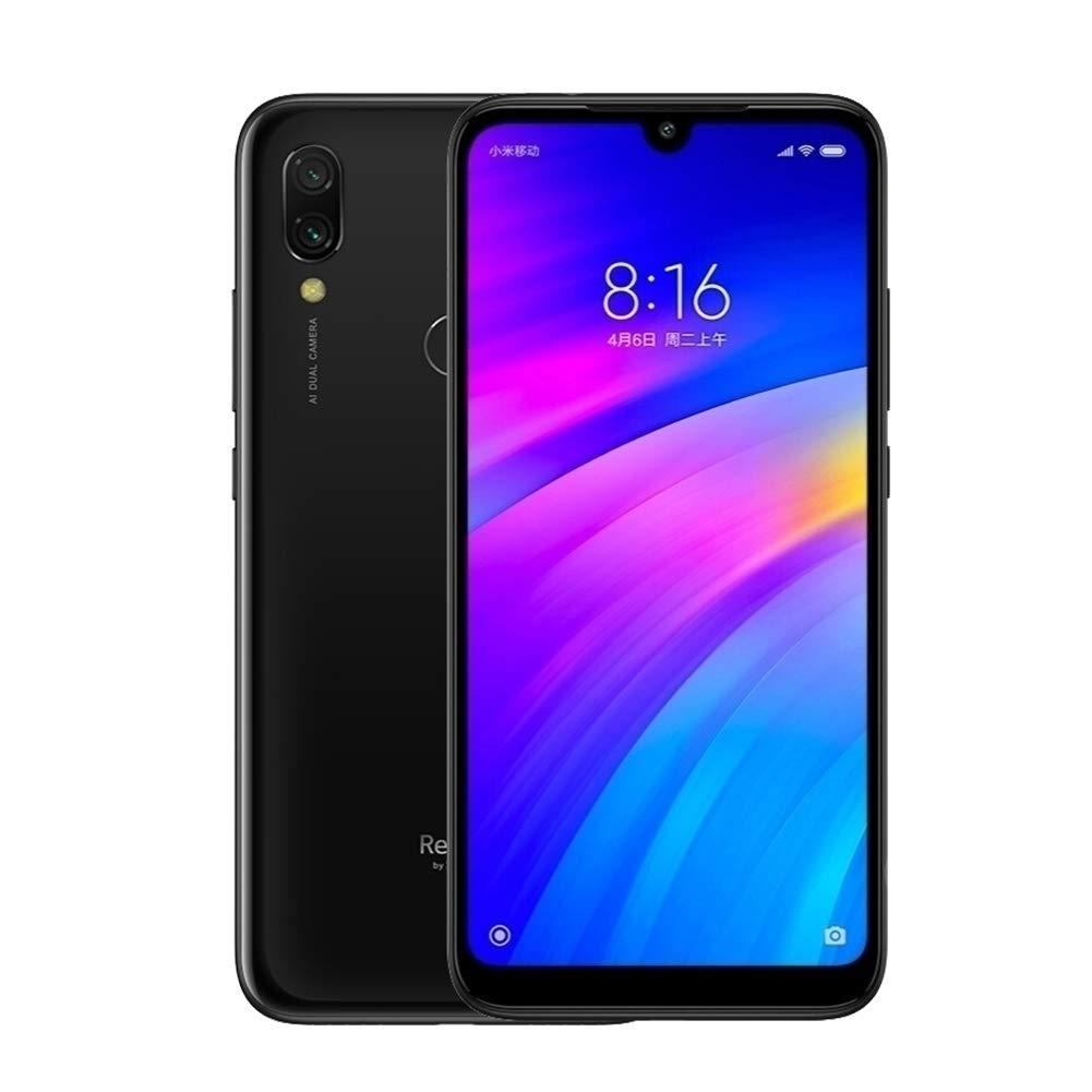 Xiaomi Redmi 7, Version globale, 4G/WiFi, couleur noire (noir), double SIM, mémoire De mémoire interne 32 go, mémoire vive 3 go, Pantall