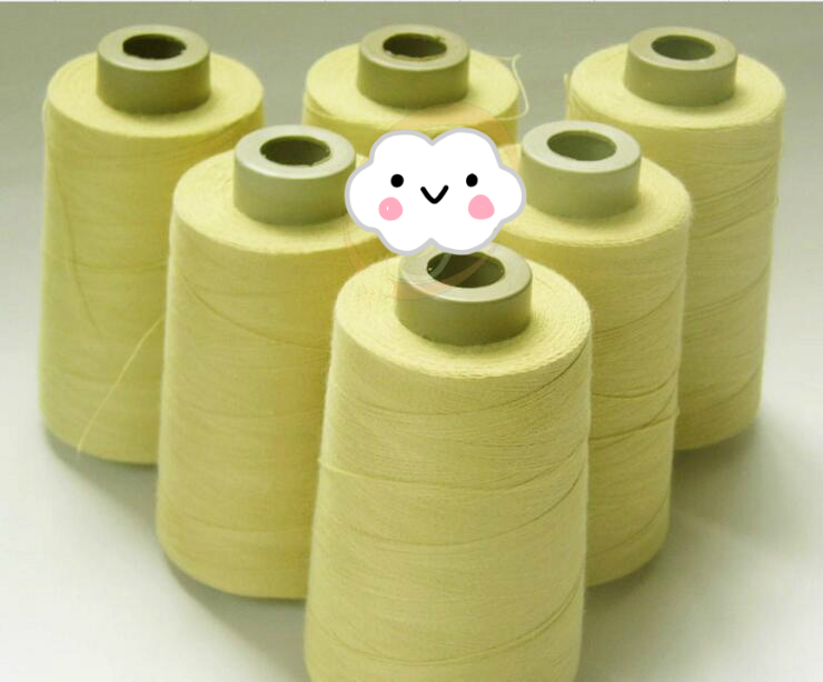 FL 100% 1414 100gram 1500m aramid fiber resistant fireproof flame-resistant wire Kevlar high temperature thread support custom