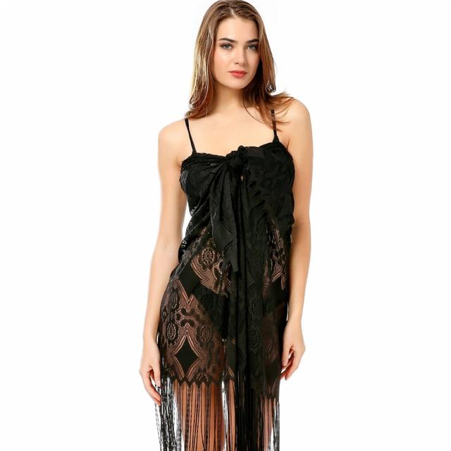 0f380ed745 New Stylish Women's Bathing Suit Cover Up Lace Crochet Tunic Bikini Beach  Dress Swimsuit Dress For Swimwear Long Sleeve Coverups