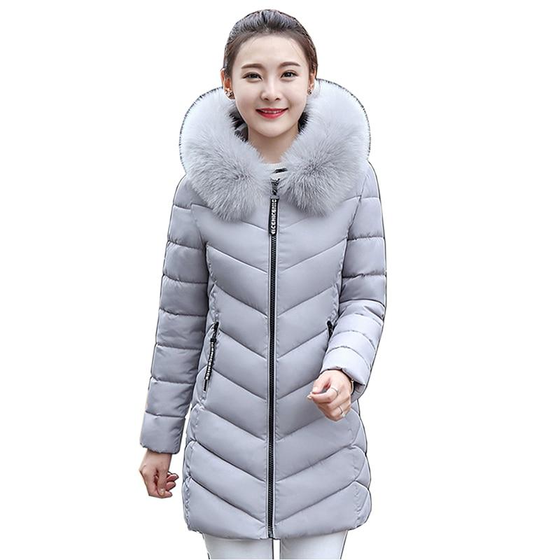 Winter jacket women fashion 2018   parkas   mujer new long coat female jacket thick hooded fur collar Women's winter coats feminina