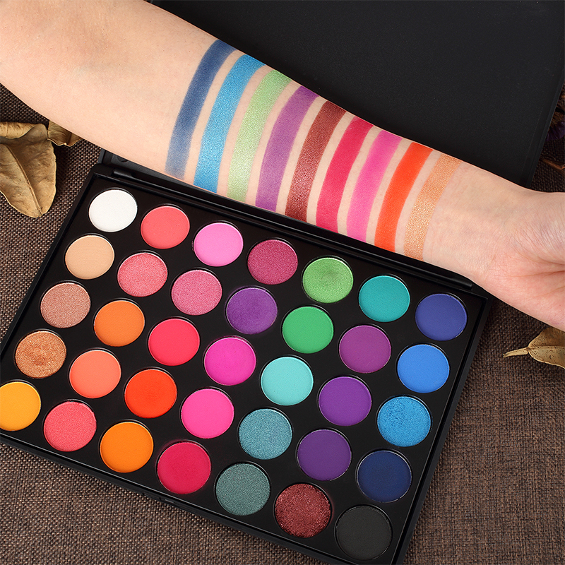 Able Miss Rose Pro Makeup Palette 36 Color Matte Eyeshadow Palette Bright Shimmer Eye Shadow Metallic Pigment Nude Smoky Cosmetic Kit Beauty Essentials
