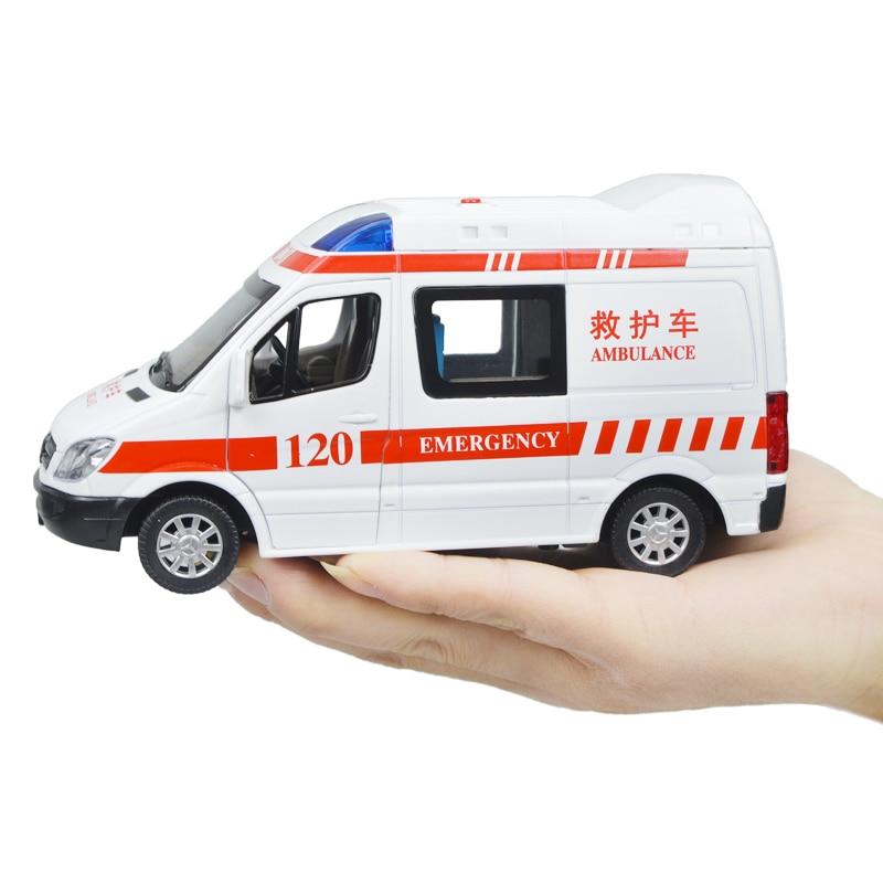 1070b24336 Lega ambulanze 120 tirare indietro lampeggiante musica ragazzo auto  giocattoli modello 1:32 giocattoli Per Bambini 1 Giugno per bambini regalo  di Nuovo Anno ...