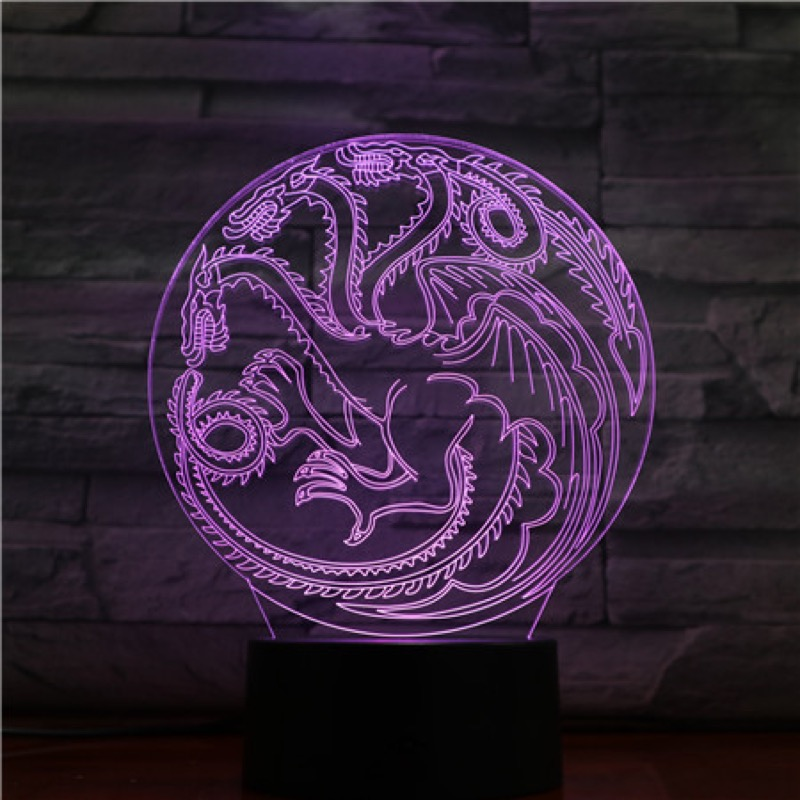 House Targaryen Dragon LED Night Light USB Touch Sensor RGB Child Kids Gift Decorative Lights Game of Thrones Table Lamp BedroomHouse Targaryen Dragon LED Night Light USB Touch Sensor RGB Child Kids Gift Decorative Lights Game of Thrones Table Lamp Bedroom