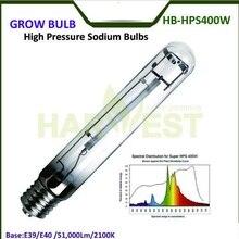 E39/E40 50000 люмен 2100K Крытый теплица HPS лампа для выращивания растений 400 Вт для роста цветения T15