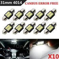 High Quality 10Pcs Car Auto 31mm 10 SMD 4014 LED Canbus Error Free Interior Festoon Doom