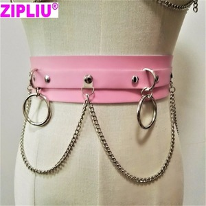 Image 5 - new Fashion Sexy Harajuku Handmade Choker harness punk Collar belt Necklace Spikes and Chain torques club party two layers set
