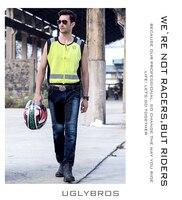 Free shipping! UglyBROS JUKE UBP 01 jeans Blue Mesh jeans in summer Motorcycle jeans men