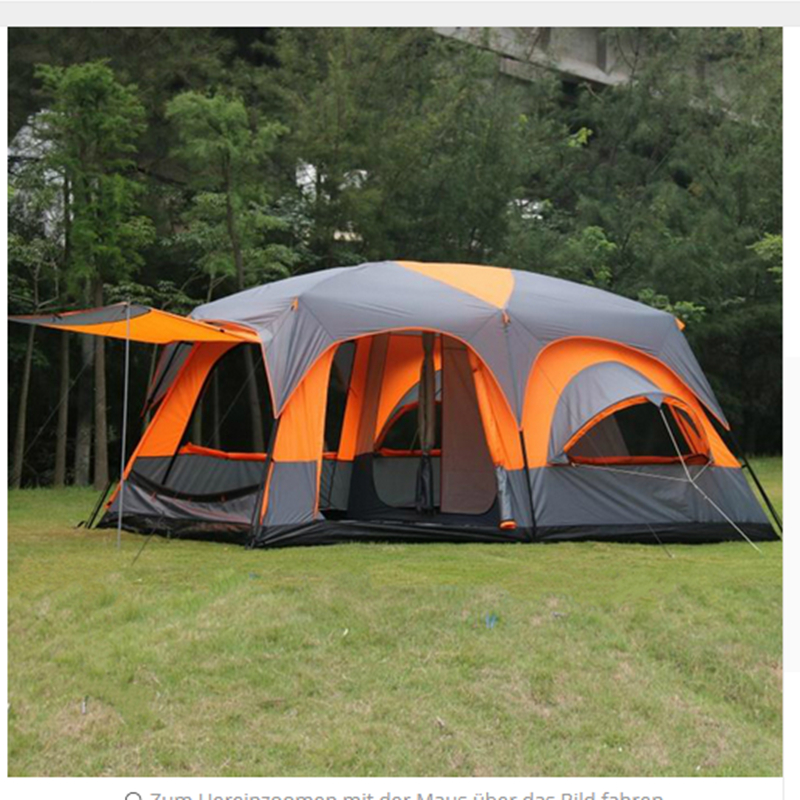 Luxury Ultralarge High Quality One Hall Two Bedrooms 6 8 10 12 Outdoor Camping Tent 215cm Height Waterproof Party Family 1 Main Street Usa