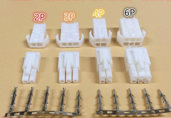10 sets EL-4.5 2/3/4/6/9/12 pin/way Small Tamiya connector Set Kits mini Tamiya set EL 4.5MM male Female socket plug 18 pin way male
