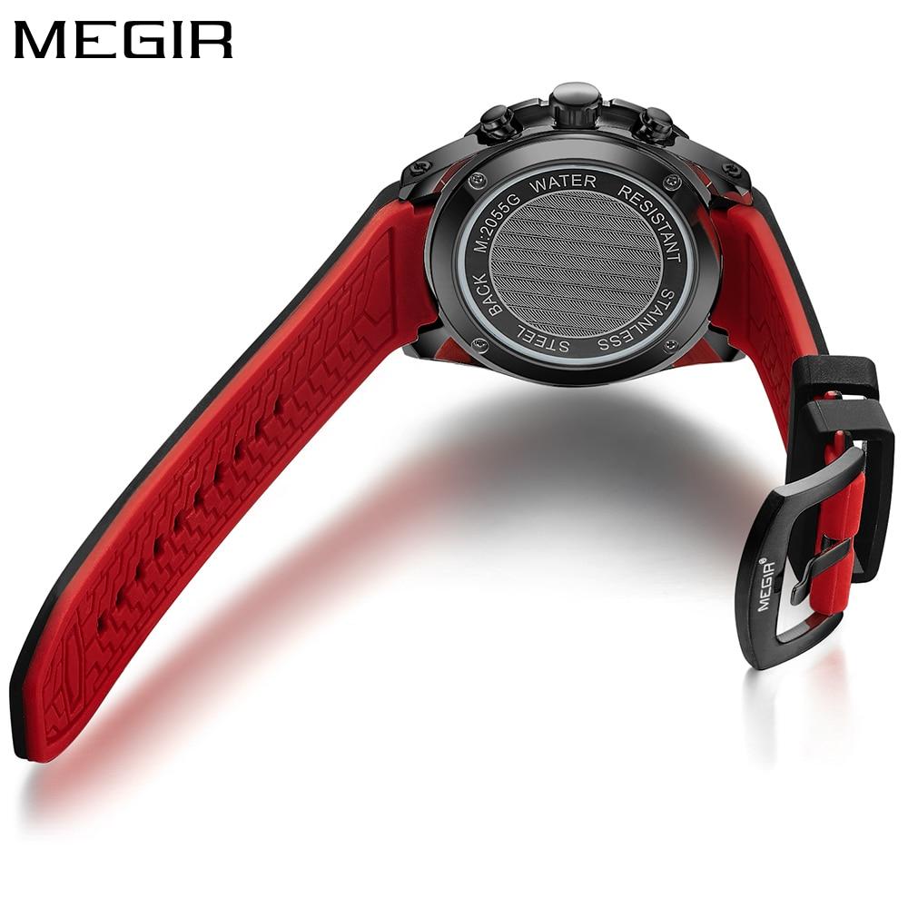 MEGIR Top Marka Luxury Sport Watch Mężczyźni Silikonowy zegarek - Męskie zegarki - Zdjęcie 5