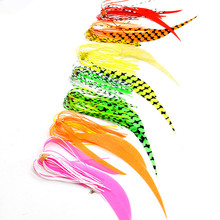 50PCS/lot Silicone Skirt with Hook High Carbon Steel Fishing Hooks Salty Rubber Lures Jigging assist hook
