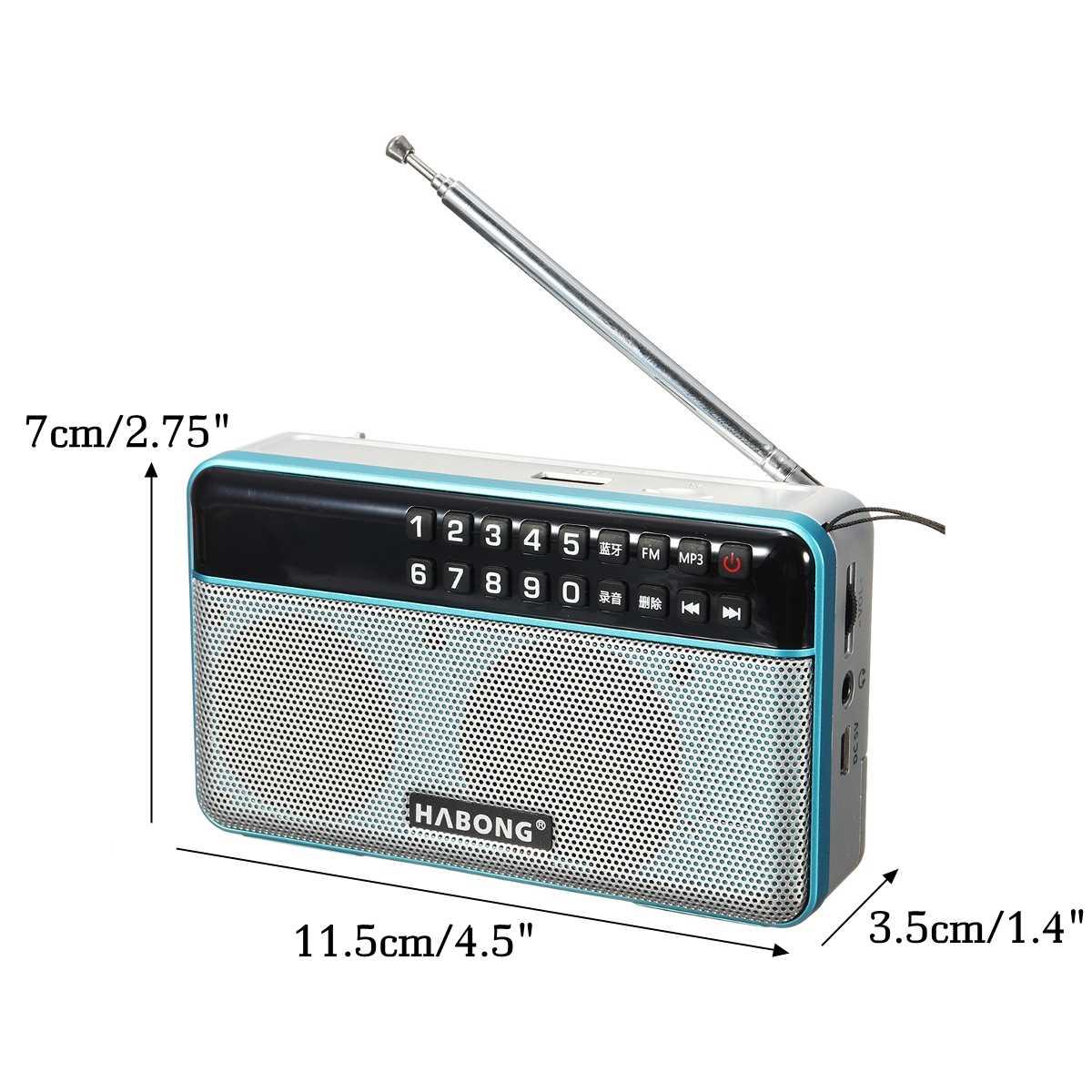 ミニポータブルラジオステレオ bluetooth スピーカー FM ラジオポータブルスピーカーラジオ USB SD TF カード MP3 プレーヤーサウンド