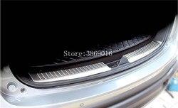 Wewnętrzny zderzak tylny ze stali nierdzewnej wykończenie ochronne lampa płaska pedału okapy nadające się do Mazda CX-5 CX5 2013 2014 2015 2016
