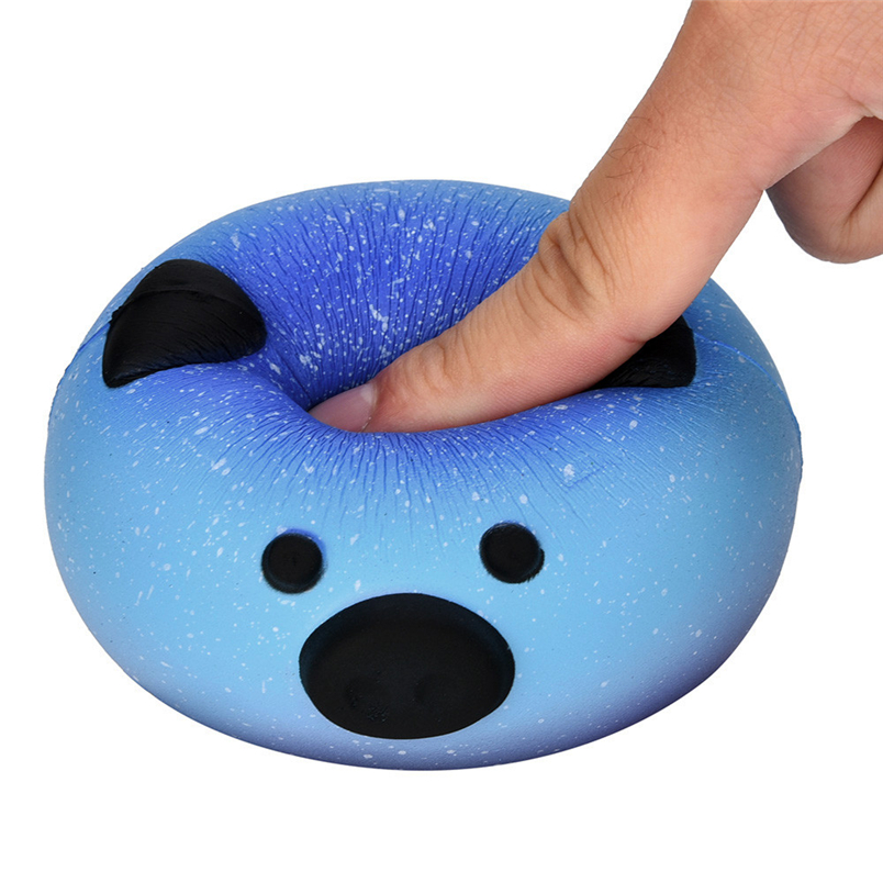 Hiinst anti stress 2017 9cm Galaxy Pig Squeeze Abreact Fun Joke Gift Rising Toys 1pc*R squeeze toy Drop