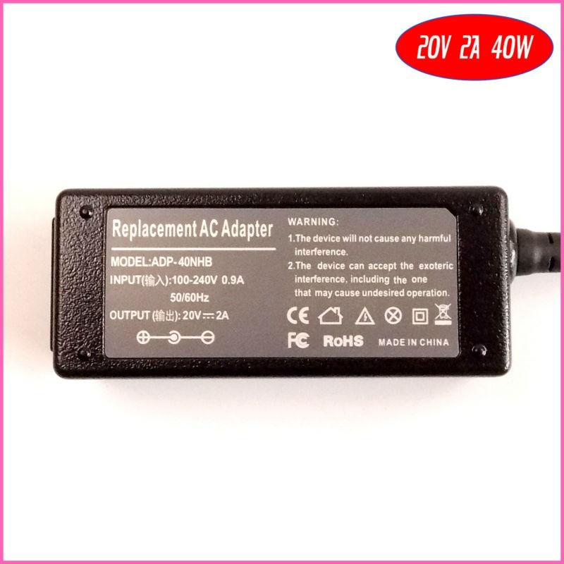 20 В 2A 40 Вт ноутбук адаптер переменного тока Зарядное устройство для Lenovo IdeaPad s10-3cs10c S10-3T S10-3 u165 S100