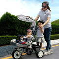 The children tricycle baby double Children bicycle stroller