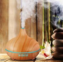 Pefeceve 300 мл ультразвуковой увлажнитель эфирное масло диффузор текстура древесины аромат холодный туман увлажнитель для офиса yoga спа difusores