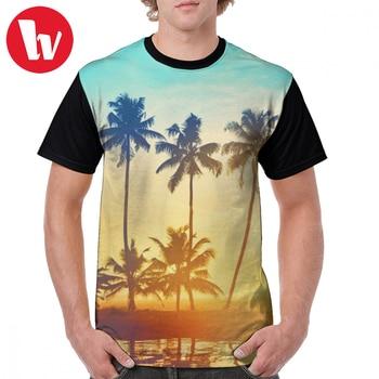 Sunset T Shirt Klaus - Sunset Image T-Shirt 100 Polyester Men Graphic Tee Shirt Fun Basic Oversize Graphic Short-Sleeve Tshirt