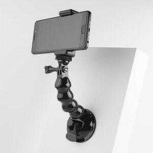 Image 3 - 흡입 컵 GoPro 영웅을위한 자동차 마운트 8 7 6 5 4 Insta360 Yi 4k Go pro 카메라 SJcam SJ4000 DJI AKASO EKEN with Safety Tether