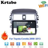 Car radio Android multimedia player For Toyota Corolla 2006~2013 Bluetooth Car touch screen GPS Navigation Stereo Audio WIFI