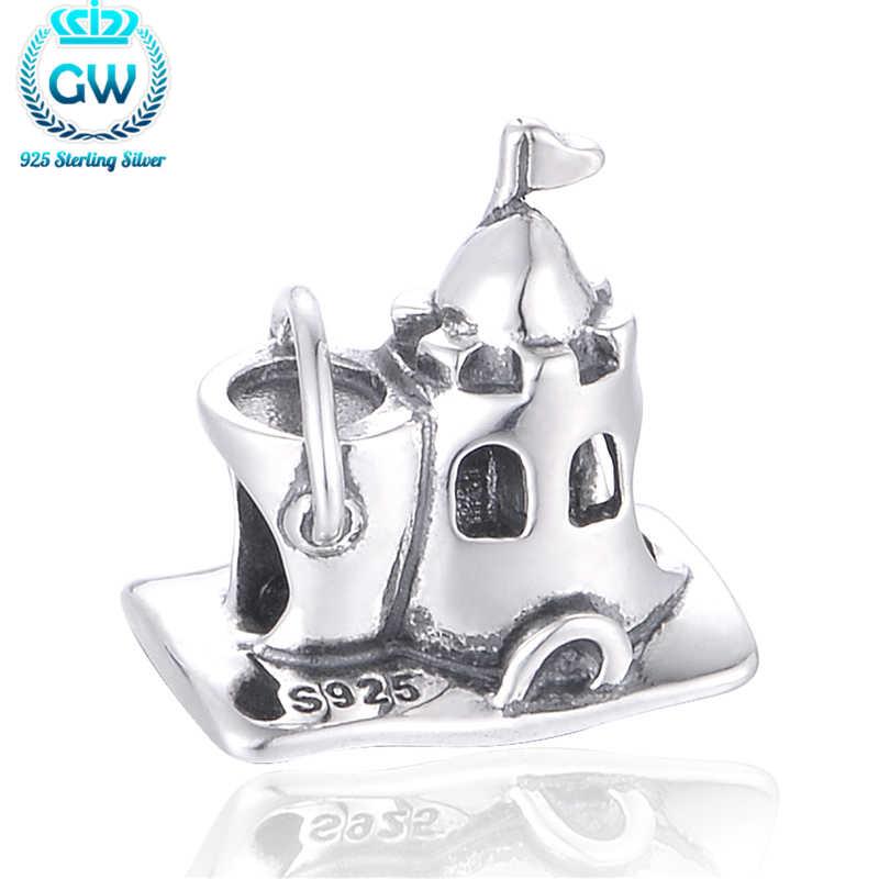 Серебро 925 оригинальные ювелирные Античная сладкий дом Шарм Подходит европейский бренд, браслет на запястье, для женщин, брендовые ювелирные изделия GW T133