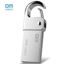 Бесплатная доставка DM PD027 8 г 16 г 32 ГБ USB Flash Drive металлическая ручка привода кольцо для ключей Водонепроницаемая USB Stick флешки флэш-накопитель из металла
