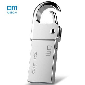 DM PD027 8G 16G 32GB USB Flash Drive Metal Pen Drive Key Ring Waterproof USB Stick Pendrive Flash Drive Metal